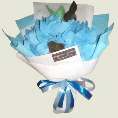 buket-bunga-hortensia-flanel