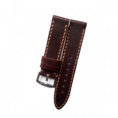 tali-jam-tangan-kulit-asli-sapi-handmade-warna-coklat-tua-size-22-mm