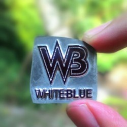 whiteblue leather
